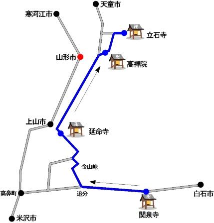 道のりの地図